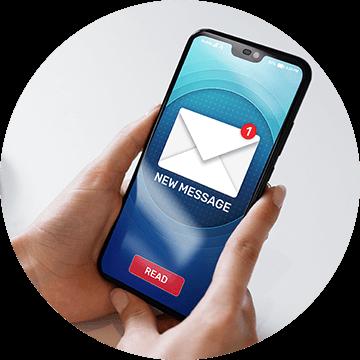 ①リーガル・フェイスよりメールで招待URLが送られてきます。
